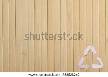 natural bamboo texture, wooden backgroud - stock photo