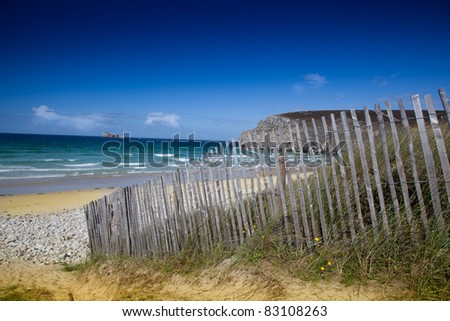 natural beach - stock photo