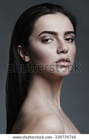 Natural beauty portrait of a young women  - stock photo