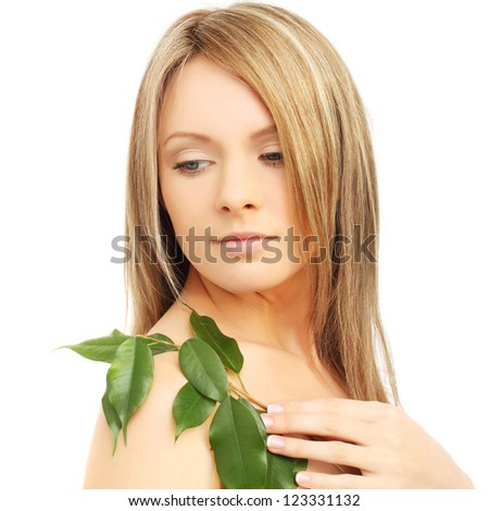 Natural beauty - young female face, portrait - stock photo