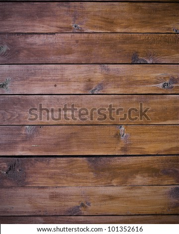 natural boards as brown wood background - stock photo