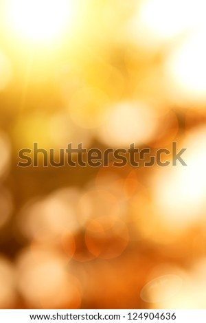 natural bokeh with sun for background or backdrop - stock photo