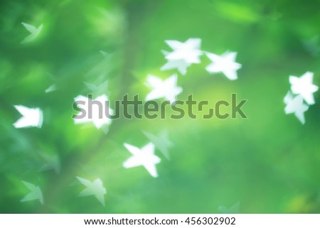 Natural Bokeh with sun rays - stock photo
