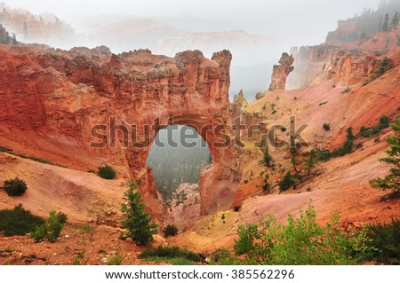 Natural Bridge in Bryce Canyon National Park in Utah, USA - stock photo