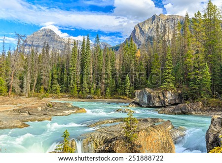 Natural Bridge, Yoho National Park, British Columbia, Canada - stock photo