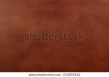 Natural brown leather texture background - stock photo