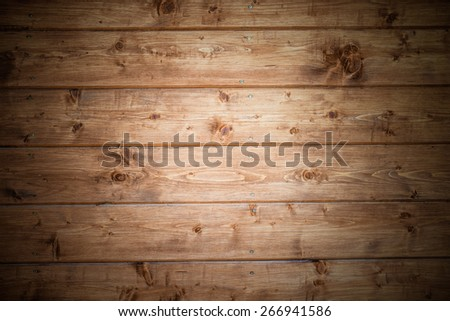 Natural brown wood board - texture. - stock photo