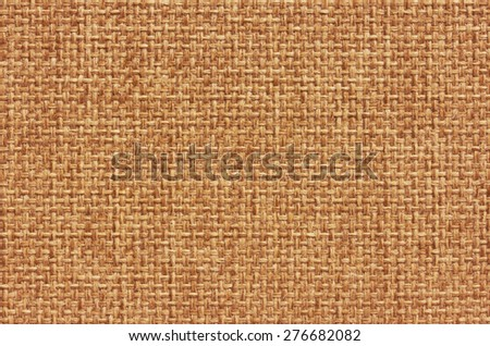 Natural burlap background, close up - stock photo