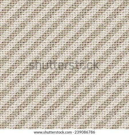 natural burlap texture digital paper with diagonal stripes - stock photo