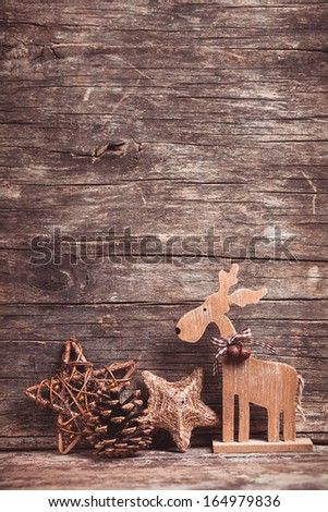 Natural christmas decor - stock photo