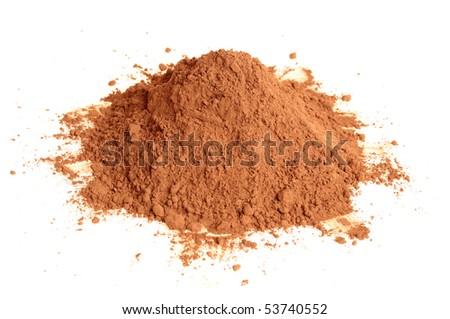 Natural cocoa powder - stock photo