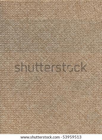 natural color textured linen burlap background - stock photo