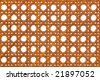 Natural color wicker rattan weave pattern backdrop over white background - stock photo
