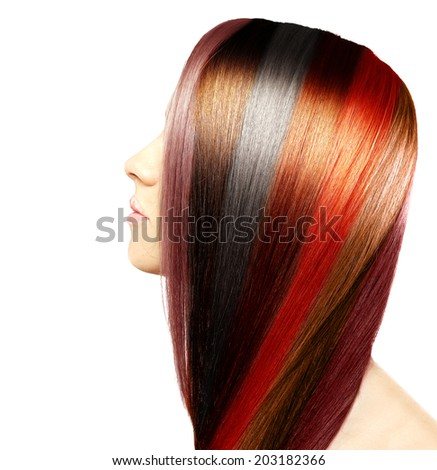 Natural colored hair - stock photo
