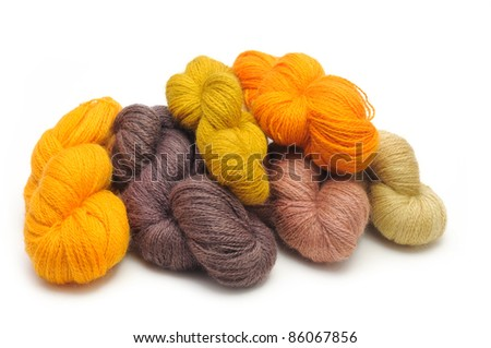 Natural  colored wool yarn