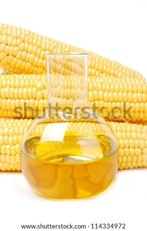 Natural corn oil - stock photo