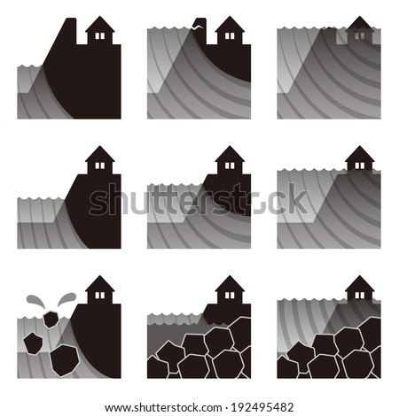 Natural disasters flood  - stock photo
