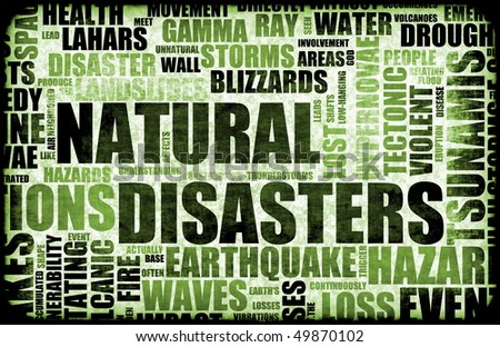 Natural Disasters Grunge as a Art Background - stock photo