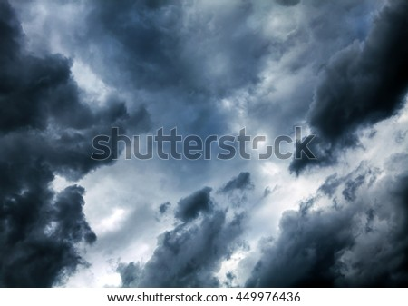Natural Dramatic Clouds Area Background - stock photo