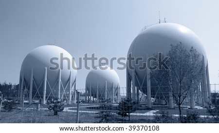 Natural Gas Factory - stock photo