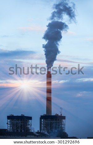 natural gas power station - stock photo