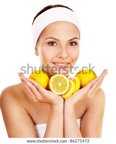 Facial fruit mask for the