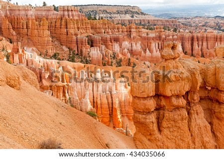 natural landmark Bryce Canyon National Park in Utah, USA