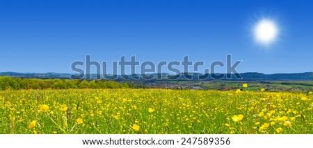 Natural landscape near Filstal, Germany - stock photo