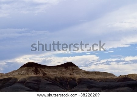 Natural landscape of a multicolor mountain