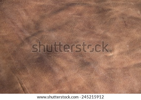 Natural leather abstract texture. Close up. - stock photo