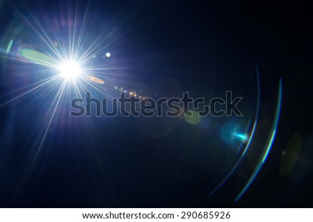 Natural lens flare.  - stock photo