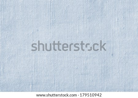 Natural Light Blue Flax Fiber Linen Texture, Detailed Closeup, rustic crumpled vintage textured fabric burlap canvas pattern, horizontal - stock photo