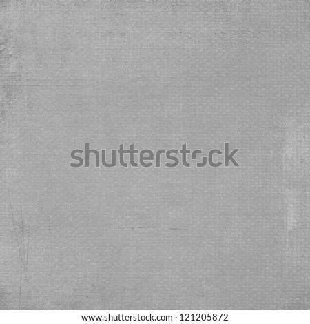Natural light grey linen texture background - stock photo