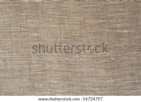 NATURAL  LINEN FABRIC BACKGROUND - stock photo