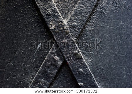 Natural Metal Surface with an X letter