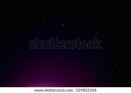 Natural Night Sky Stars Background Texture - stock photo