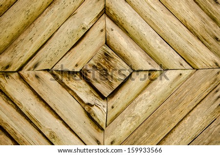 Natural old wood texture with a square pattern.