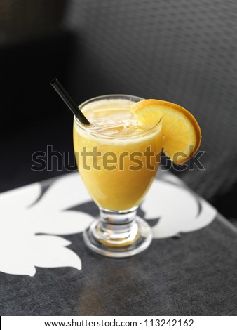 Natural orange juice - stock photo