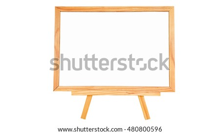 Natural pine wood white board on white background isolated.