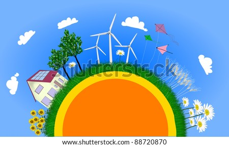 natural planet - stock photo