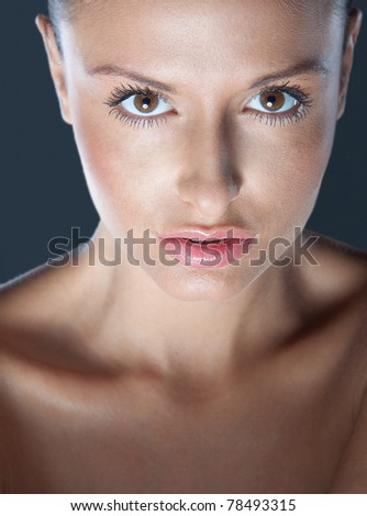 Natural Portrait of beautiful woman - stock photo