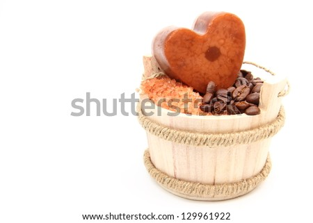 Natural products for spas, saunas and steam baths - stock photo