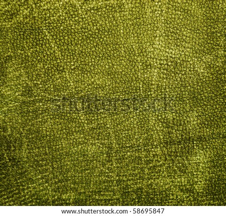 Natural qualitative green leather texture. Close up. - stock photo