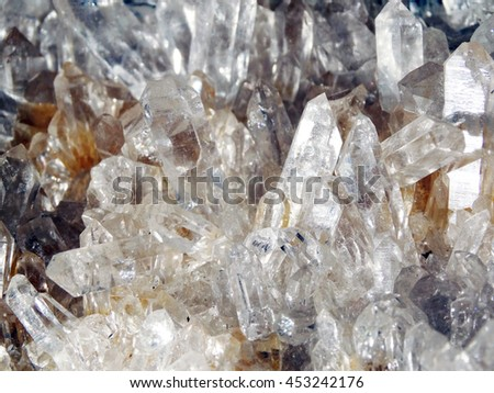 natural quartz  geode crystals geological mineral isolated  - stock photo
