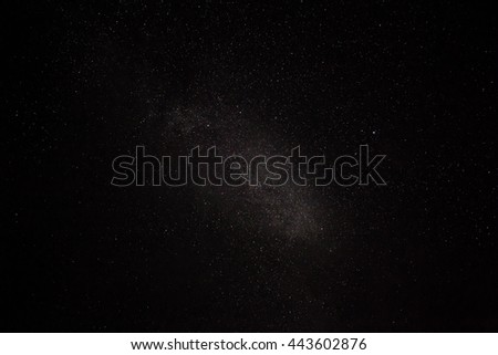 natural real night sky stars background texture - stock photo