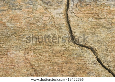 Natural rock background with fissure