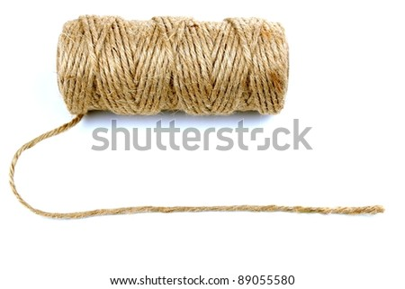 Natural rope and space for text - stock photo