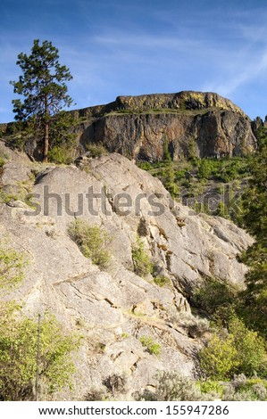 Natural Rugged Rocky Landscape Vertical Composition Outdoor Blue Sky