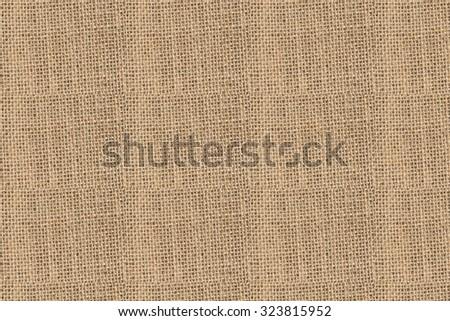Natural sack texture brown seamless canvas fabric design - stock photo