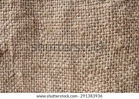 Natural sackcloth, Fabric Jute Texture Pattern Closeup, textured for background.  - stock photo